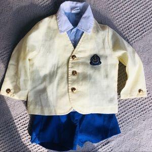 🎉🎈HP🎉🎈Vintage Boys 3 Piece Shorts Suit